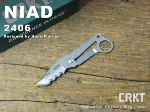 CRKT コロンビアリバー 2406 NIAD ネイド 折り畳みナイフ 登山 ロッククライミング カラビナ